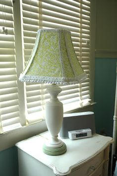 ! Sew we STITCH: Guest #12 at Wantobe Quilters Here is Amanda -Covering a lampshade - with fabric!