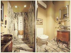 A marble bathroom in Faik Pasha Hotel's superior room.