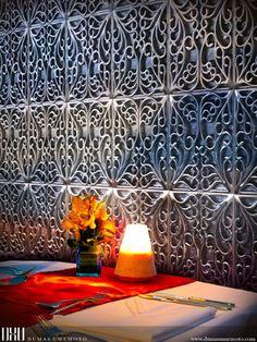 kitchen backsplash     Metal Tiles | Brocade Serie  http://www.dumasumemoto.com  David Umemoto