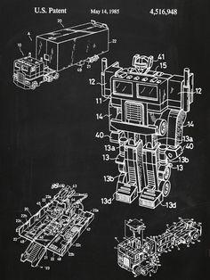 Original 1985 Optimus Prime Poster