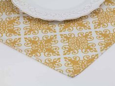 Ornamental Place Mat in Goldenrod from Southern Sisters Home