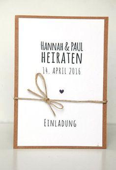 Einladungskarten - Einladungen zur Hochzeit - DIY Kit - ein Designerstück von reflect-photographie bei DaWanda
