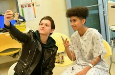 Tom visiting the LAC+USC Medical Center in Los Angeles, California