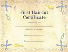 Perfect for parents or hair salons this pastel for Haircut gift certificate template