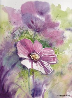 Kwiaty 5 by chatte-bleu.devia… on – cindy rholl Kwiaty 5 by chatte-bleu.devia… on Kwiaty 5 by chatte-bleu. Watercolor Cards, Watercolour Painting, Watercolor Flowers, Painting & Drawing, Watercolors, Art Floral, Ouvrages D'art, Botanical Art, Painting Inspiration