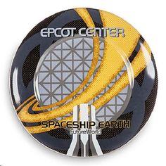 "Disney World Spaceship Earth 7"" Plate Disney"