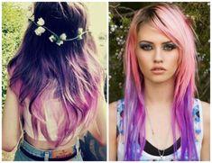 cabelos coloridos degrade