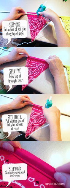 Make a no-sew Bandana Banner easily!