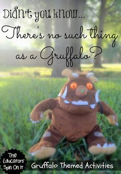 """Gruffalo Themed Activities for Kids inspired by author Julia Donaldson's books.  """"Didn't you know, there's no such thing as a gruffalo?"""""""
