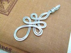 Celtic Pendant Filigree Pendant Aluminum Pendant Wire Wrap Pendant Hammered Metal Pendant Jewelry Gifts Under 20 Artisan Handmade