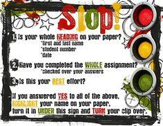 Turn it in Routine! My kids keep shoving it in their desk! Pinterest inspired: I made this and it seems to help for now!