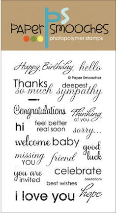"""salutations paper smooches clear stamps - 4"""" x 6"""""""