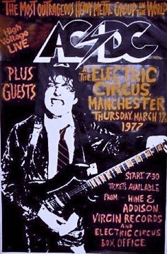 THE AC/DC TOUR POSTERS
