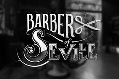 Barber of Seville identity by Farm Design Barber Logo, Barber Shop, Best Logo Design, Branding Design, Graphic Design, Typographic Logo, Typography, The Barber Of Seville, Hair Salon Logos