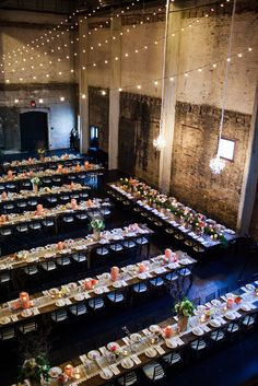 Modern, Industrial Wedding Reception at Aria | Rocket Science Weddings and Events | J. Stoia Portrait Design