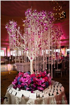 Hotel Del Coronado beach wedding, fuchsia orchid wedding, crystal manzanita