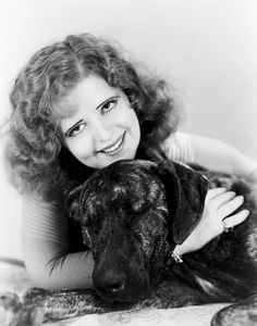 Clara Bow and her Great Dane Duke. (Be prepared: many pictures of famous people with Danes coming up.)