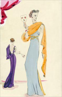 A Schiaparelli illustration, circa 1935.