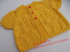 Lace Baby Girl Cardigan 12M by tlcrochetknitting on Etsy, $28.00