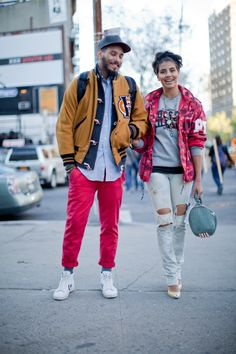 Street Style, NYC: Bowery and Bond, the cutest couple you'll ever see