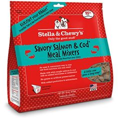 Stella & Chewy's Freeze-Dried Raw Savory Salmon & Cod Meal Mixers Dog Food Topper, 18 oz bag @ You could find more details by visiting the image link. (This is an affiliate link and I receive a commission for the sales)