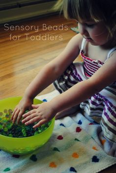 Sensory Beads for Toddlers via Living on Love