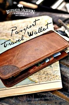 Men's leather passport wallet. Beyond your basic passport holder in all the right ways. Rugged, durable, and well-made. For adventure or business travel.