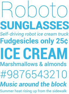 Android 4.0 Ice-Cream Sandwich sans-serif