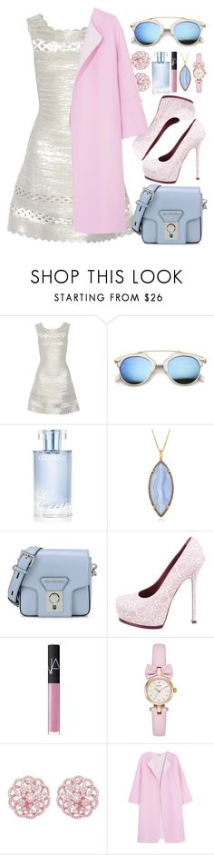 """""""Like Cotton Candy"""" by egordon2 ❤ liked on Polyvore featuring Hervé Léger, ZeroUV, Orlane, Alexandra Alberta, Karl Lagerfeld, Yves Saint Laurent, NARS Cosmetics, Emilio! and Jil Sander"""
