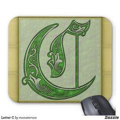 Letter C Mouse Pad #Alphabet #Letter #Embossed #Art #Fashion #MousePad