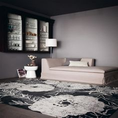 Lomasi Charcoal of the Romo collection is a dramatic floral rug with a beautiful distressed effect woven in a soft textural chenille made by Louis de Poortere. Carpet Fitters, Romo Fabrics, Bedroom Turquoise, Carpets Online, What's Your Style, Floral Rug, Custom Rugs, Bedroom Carpet