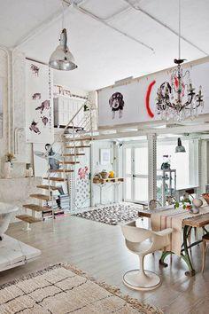 a magical bohemian loft