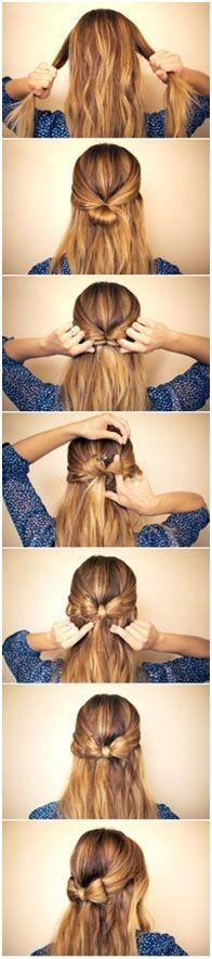 Bow hair style [ BodyBeautifulLaserMedi-Spa.com ] #hair #spa #beauty