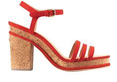 Sandálias em pele e cortiça, Chanel, €670.00