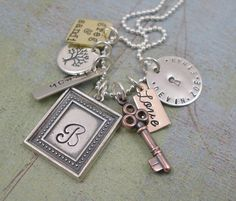 hand stamped necklace from tinytokensdesigns on etsy