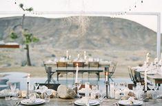 Modern organic wedding tablescape