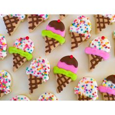 Ice Cream Cone Mini Sugar Cookies- 2 Dozen ❤ liked on Polyvore