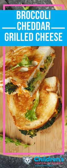 A classic grilled cheese sandwich is always a kid-favorite! With the addition of nutrient-rich broccoli and a swap to whole grain bread, it is the perfect healthy alternative.