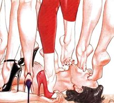 Female Led Marriage, Feet Show, Alpha Female, Girl Inspiration, Erotica, Art Pictures, Worship, Drawings, Illustration