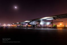 Solar Impulse on the runway by brunoboehm