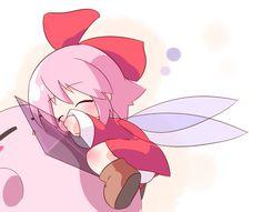 Kirby and Ribbon by Oka