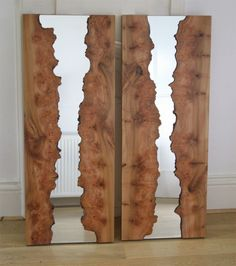 Beautiful unique natural timber framed mirror