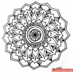 Sketchbook : Mandalas #155 @ kitskorner.com