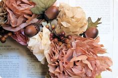 Great tutorial for this coffee filter wreath!