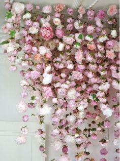 Flower drop decorations