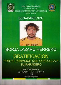 Borja Lazaro desaparecido en el desértico departamento de La Guajira, en el norte de Colombia
