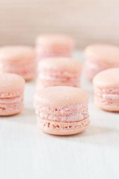 Strawberry Macarons by Cassidy Budge Cake Design