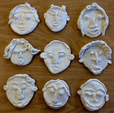crayola model magic clay faces-2nd grade self-portraits-Art with Mr. Giannetto blog