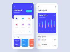 finance app design Money management app design by Stan Vision on Dribbble Flat Web Design, App Ui Design, Interface Design, User Interface, Design Design, Logo Design, Web Layout, Design Layouts, Website Layout