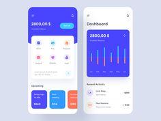 finance app design Money management app design by Stan Vision on Dribbble Flat Web Design, App Ui Design, Interface Design, User Interface, Design Design, Ui Design Mobile, Android App Design, Web Layout, Design Layouts